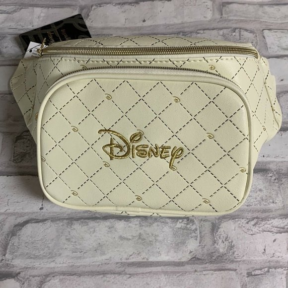 NWT Loungefly Disney Logo Fanny Pack Quilted